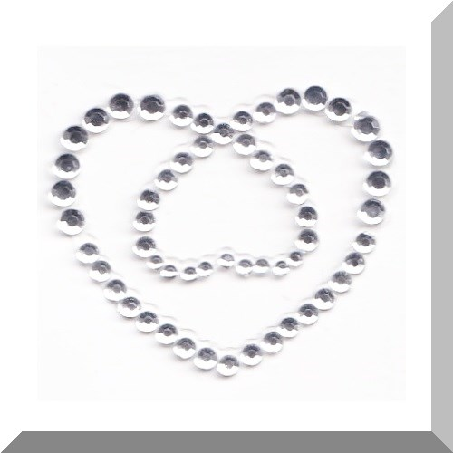 Diamante Hearts self adhesive body jewel